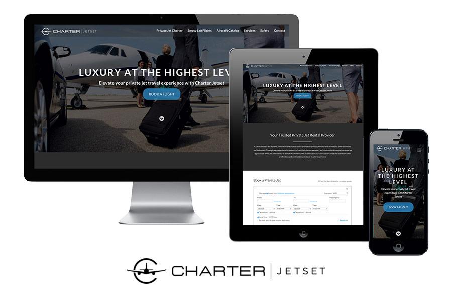 Charter Jetset website design and development