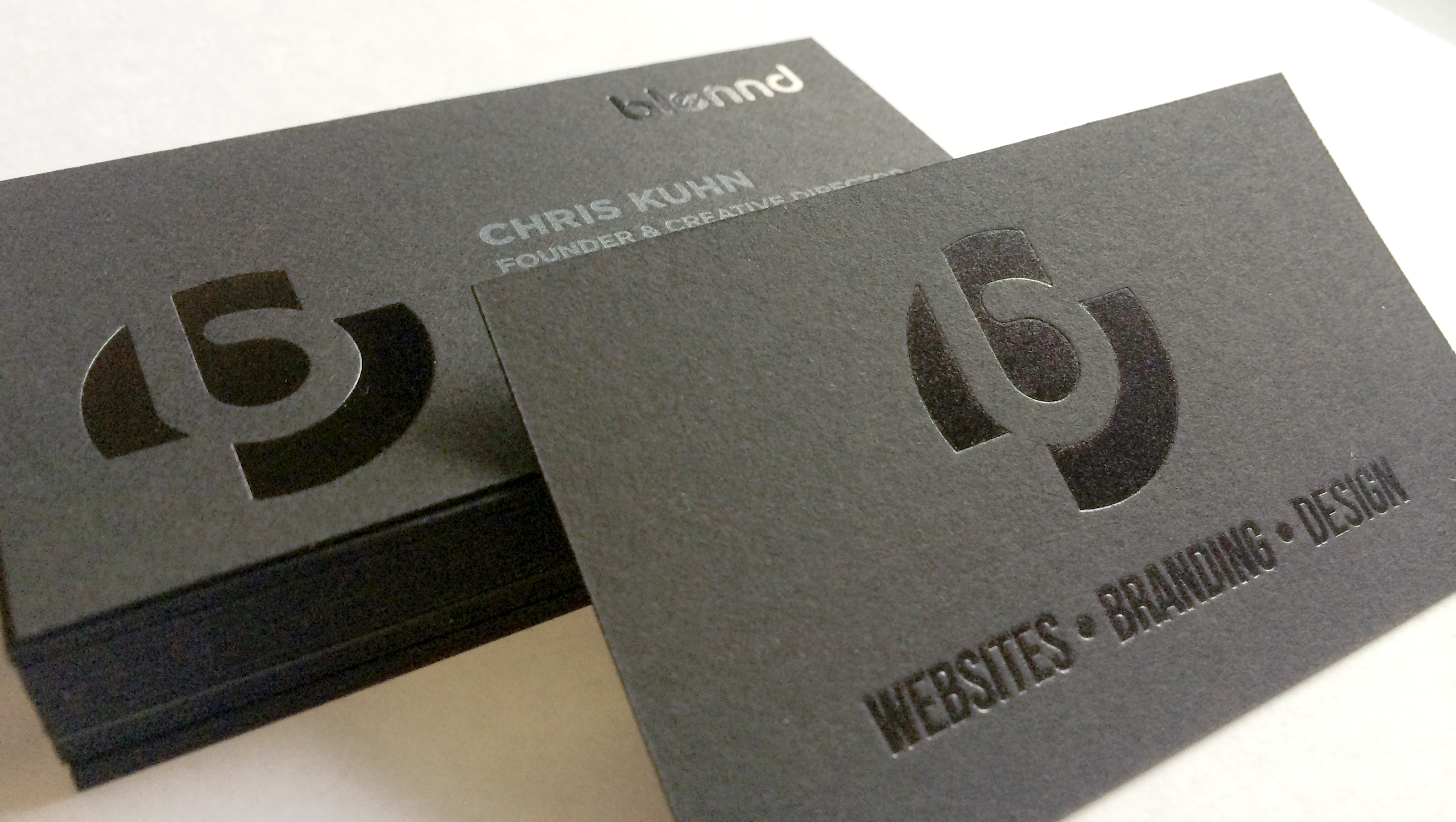 Offset Printing: Black on Black Business Cards