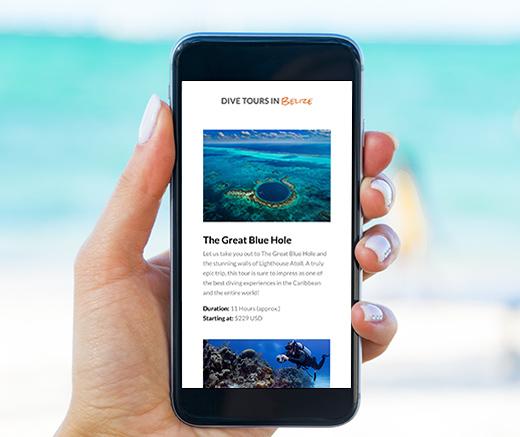 Belize Diving Services web design