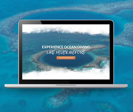 Belize Diving Services Website Design