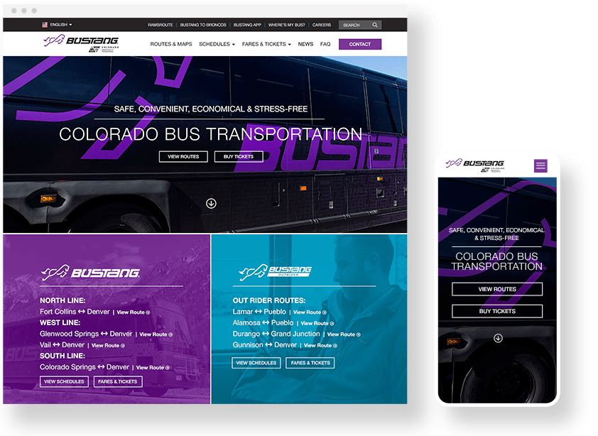 Bustang Website Design