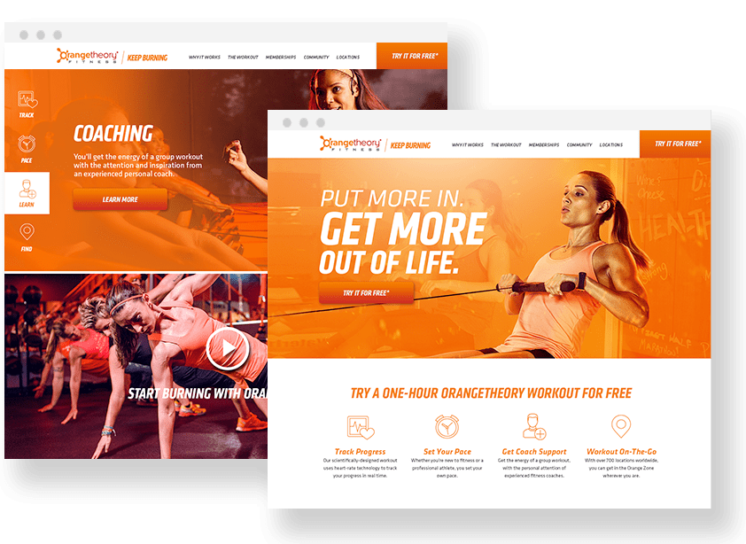 Fitness Landing Page Design