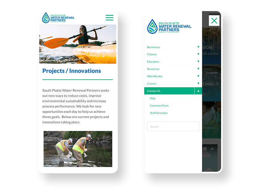 City mobile website design