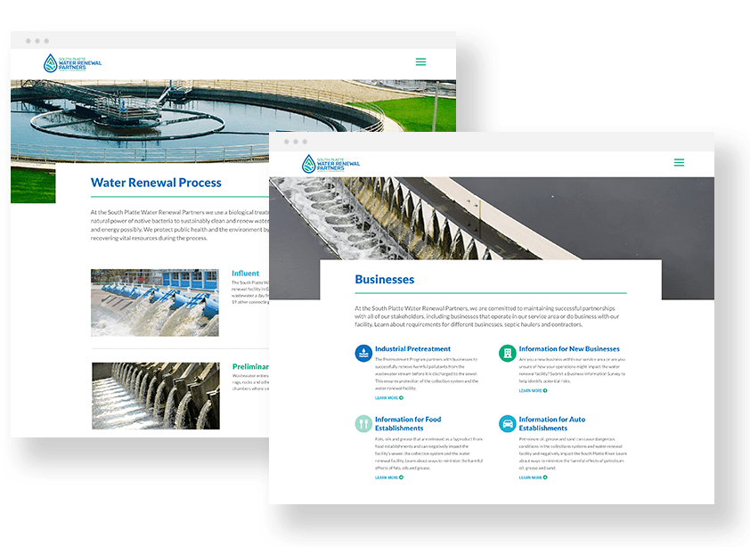 water renewal website design