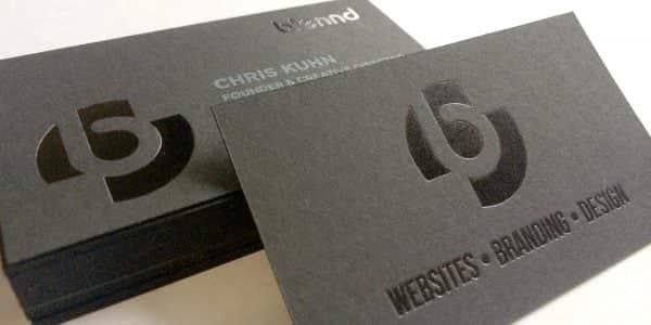 Offset Printing: Black on Black Business Cards